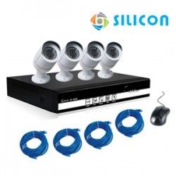 SILICON NVR KIT RS-8004PoE-CW10IP (WITH POE)
